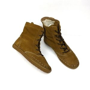 Keds Brown Suede Moccasin Lace Up Boots